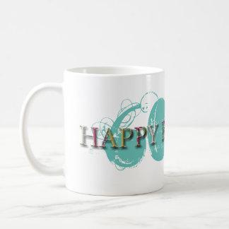 Las 60.as letras felices del cumpleaños en mujeres taza de café