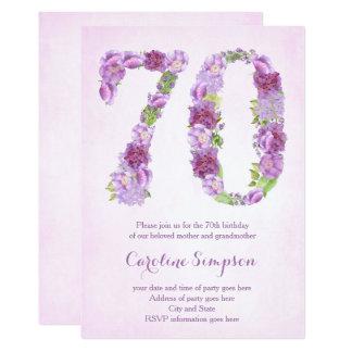 las 70.as invitaciones del cumpleaños de la