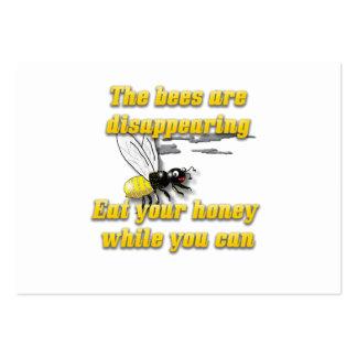 Las abejas están desapareciendo tarjetas de visita