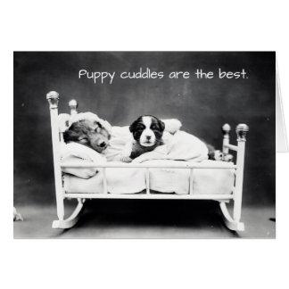 Las abrazos del perrito son la mejor tarjeta de