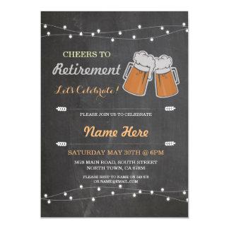 Las alegrías a las cervezas de la tiza del fiesta invitación 12,7 x 17,8 cm