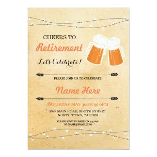 Las alegrías del vintage a las cervezas del fiesta invitación 12,7 x 17,8 cm