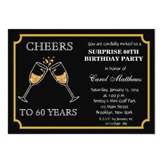 Las alegrías sorprenden las 60.as invitaciones de invitación 12,7 x 17,8 cm