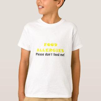 Las alergias alimentarias satisfacen no me camiseta
