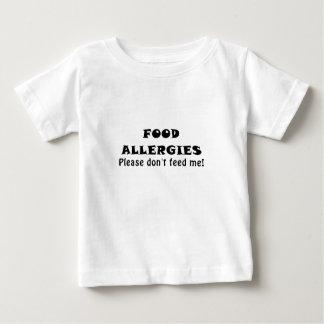 Las alergias alimentarias satisfacen no me camiseta de bebé