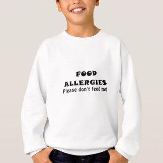 Las alergias alimentarias satisfacen no me sudadera