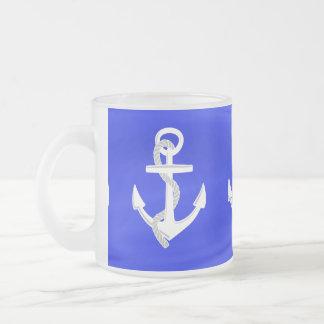 Las anclas de la nave taza de café esmerilada
