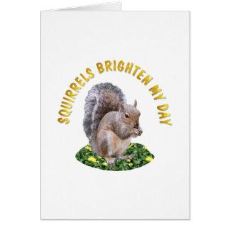Las ardillas aclaran mi día tarjeta de felicitación