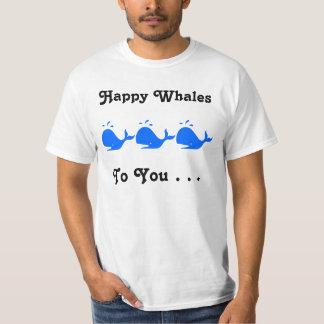 Las ballenas felices a usted juntan con te camisetas