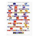 Las banderas regionales y departamentales de Franc Postales