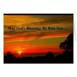 Las bendiciones de dios sean con usted tarjeta de