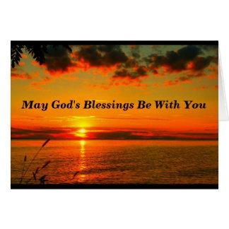 Las bendiciones de dios sean con usted tarjeta del