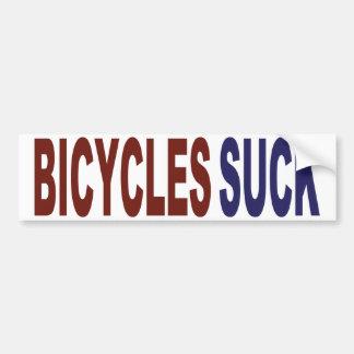 Las bicicletas chupan pegatina para coche