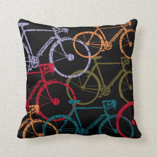 las bicicletas coloridas refrescan la decoración cojines