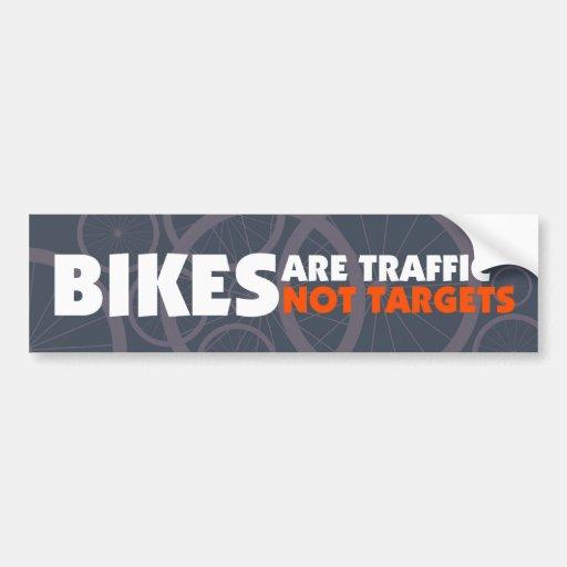 Las bicis son tráfico, no blancos pegatina de parachoque