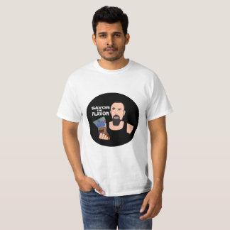 Las bolas de Chris Savor la camiseta del sabor