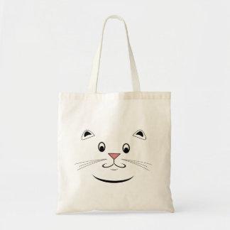 Las bolsas de asas felices de la cara del gato del