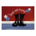 Las botas del ejército Envían-Apagado al fiesta