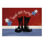 Las botas del ejército Envían-Apagado al fiesta Invitación 12,7 X 17,8 Cm