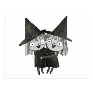 las brujas gemelas postal