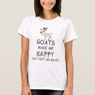 Las cabras le hacen me feliz no tanto camiseta