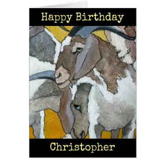 Las cabras personalizaron la tarjeta del arte del