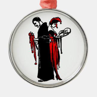 Las cadenas que llevamos para amar - el ornamento adorno navideño redondo de metal