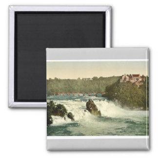 Las caídas del Rin, con el castillo de Laufen, Sc Imán Para Frigorifico