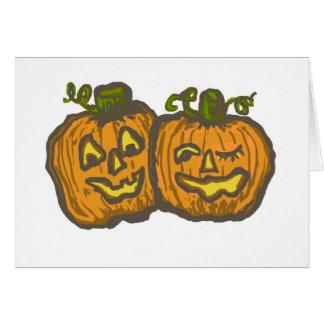 ¡Las calabazas de Halloween consiguen rotas! Tarjeta De Felicitación