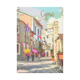 Las calles traseras del estilo del poster del lienzo