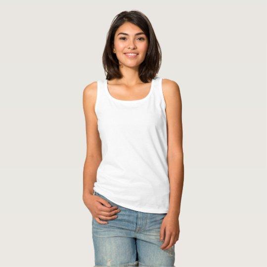 Camiseta de mujer de tirantes básica, Blanco