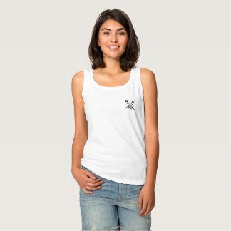 Las camisetas sin mangas blancas para mujer