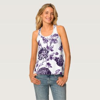 Las camisetas sin mangas de las mujeres florales