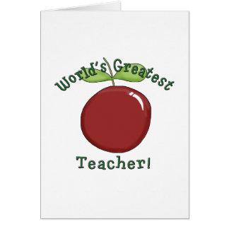 Las camisetas y los regalos más grandes del profes tarjeta de felicitación