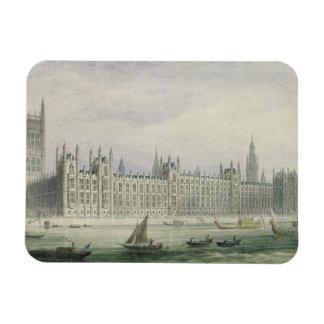 Las casas del parlamento (grafito, pluma y tinta y imán flexible