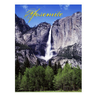Las cataratas de Yosemite, parque nacional de Postal