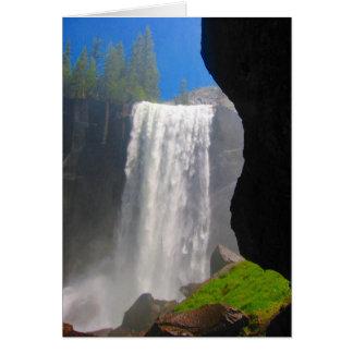 las cataratas de Yosemite Tarjeta De Felicitación