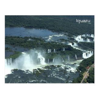Las cataratas del Iguazú - visión aérea Postal
