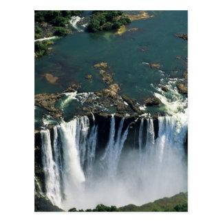 Las cataratas Victoria, Zambia a la frontera de Postal