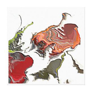 Las cenizas al circo de la pulga de las cenizas impresión en lienzo