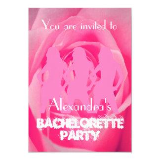 Las chicas marchosas rosadas de la diversión invitación 12,7 x 17,8 cm