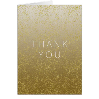 Las chispas elegantes del confeti del oro le tarjeta pequeña