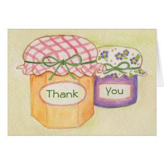 Las chucherías hechas en casa le agradecen cardar tarjeta de felicitación