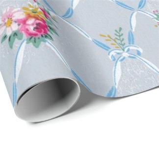 Las cintas azules bonitas subió el papel pintado