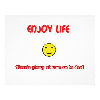 Las citas divertidas disfrutan de vida folleto 21,6 x 28 cm