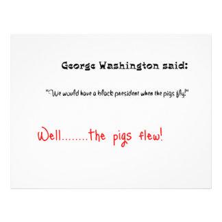Las citas divertidas George Washington dijeron Folleto 21,6 X 28 Cm