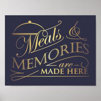 Las comidas y las memorias se hacen aquí citan póster