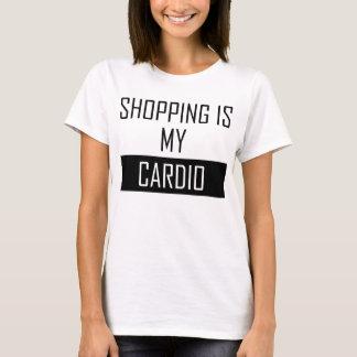 Las compras son mi camiseta cardiia, camiseta de