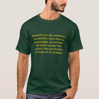 Las contraseñas son como la ropa interior camiseta