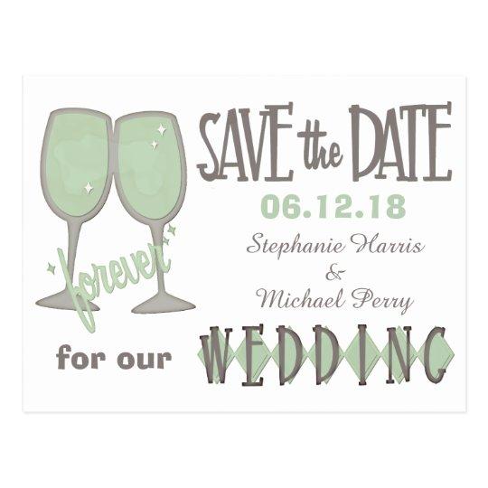 Las copas de vino caprichosas ahorran el boda de postal